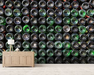Old Wine Bottles wallpaper mural