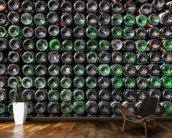 Old Wine Bottles wallpaper mural kitchen preview
