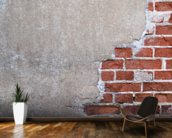 Brick and Render mural wallpaper kitchen preview