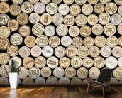 Wine Corks Effect wallpaper mural kitchen preview