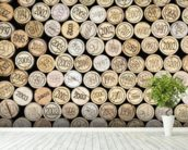 Wine Corks Effect wallpaper mural in-room view