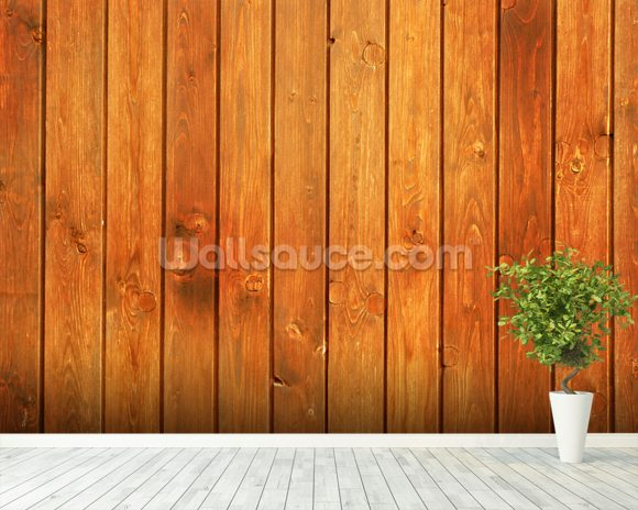 Wood Texture Golden Finish wall mural room setting