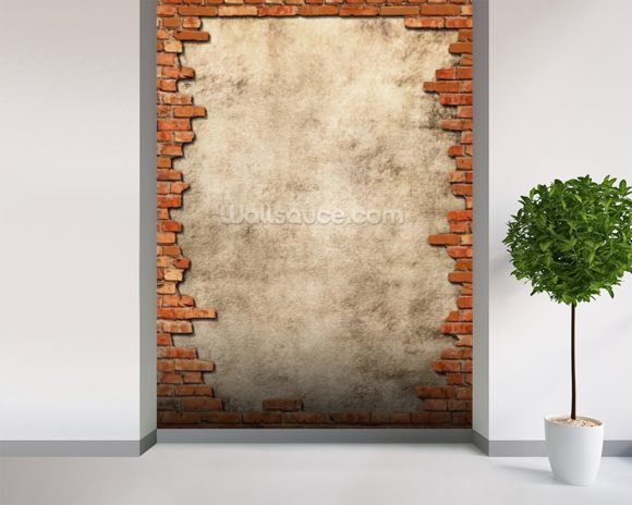Brick Wall Frame mural wallpaper room setting