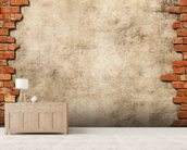 Brick Wall Frame mural wallpaper living room preview