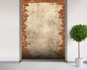 Brick Wall Frame mural wallpaper in-room view
