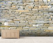Stone Wall - Grey wallpaper mural living room preview