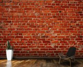 Red Brick Wall mural wallpaper kitchen preview