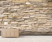Stacked Stone Wall wall mural living room preview