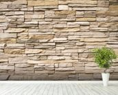 Stacked Stone Wall wall mural in-room view