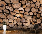 Log Pile Wall wall mural kitchen preview