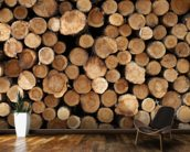 Log Pile wall mural kitchen preview