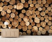 Log Pile wall mural living room preview