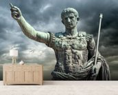 Statue of Caeser, Rome wall mural living room preview