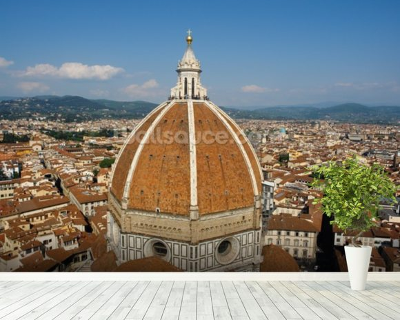 Florence Skyline wallpaper mural room setting
