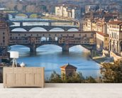 Ponte Vecchio, Florence mural wallpaper living room preview