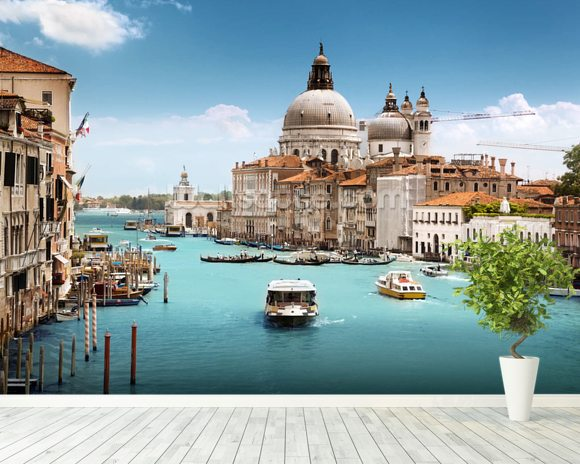 The Grand Canal, Venice wallpaper mural room setting