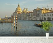 Grand Canal Gondola mural wallpaper in-room view