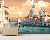 Venice Skies mural wallpaper living room preview