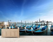 Gondolas in Venice wallpaper mural living room preview