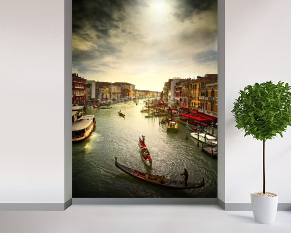 Grand Canal wall mural room setting