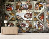 Rome's Sistine Chapel mural wallpaper living room preview