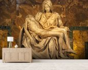 Michaelangelo's Pieta Sculpture wall mural living room preview