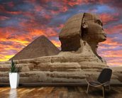 Pyramid and Sphinx at Sunset wallpaper mural kitchen preview