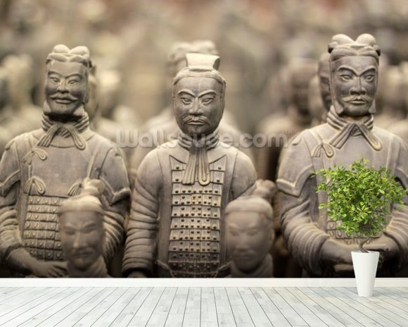 Terracotta army wallpaper wall mural wallsauce for Army wallpaper mural