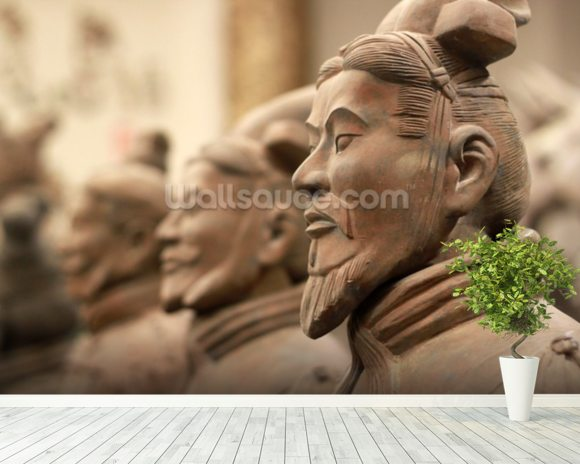 China Terracotta Warriors wallpaper mural room setting