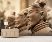 China Terracotta Warriors wallpaper mural living room preview