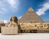 Great Pyramid at Giza wall mural living room preview