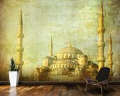 Vintage Blue Mosque, Istanbul wallpaper mural kitchen preview