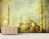 Vintage Blue Mosque, Istanbul wallpaper mural living room preview
