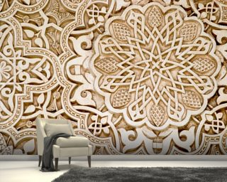 Alhambra Moorish Carved Stone Wallpaper Wall Murals