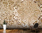 Alhambra Moorish Carved Stone mural wallpaper kitchen preview