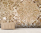 Alhambra Moorish Carved Stone mural wallpaper living room preview