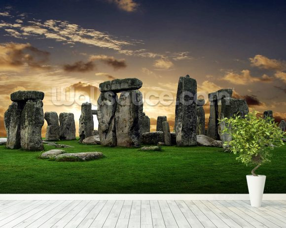 Stonehenge Sunrise wall mural room setting