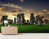 Stonehenge Sunrise wall mural living room preview