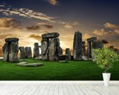 Stonehenge Sunrise wall mural in-room view