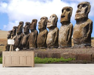 Easter Island Mural Wallpaper Wall Murals Wallpaper