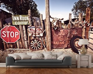 Junk, Route 66 Mural Wallpaper Wall Murals Wallpaper