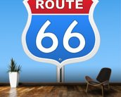 Route 66 wall mural kitchen preview