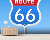 Route 66 wall mural living room preview