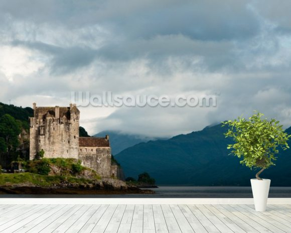 Eilean donan castle wallpaper wall mural wallsauce for Castle mural wallpaper