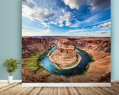 Horseshoe Grand Canyon wall mural in-room view