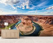 Horseshoe Grand Canyon wall mural living room preview