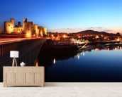 Conwy Castle wall mural living room preview