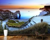 Durdle Door Sunset mural wallpaper kitchen preview