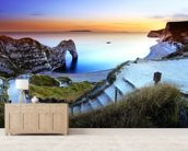 Durdle Door Sunset mural wallpaper living room preview