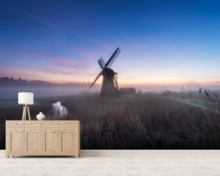 Herringfleet Mill Twilight wall mural